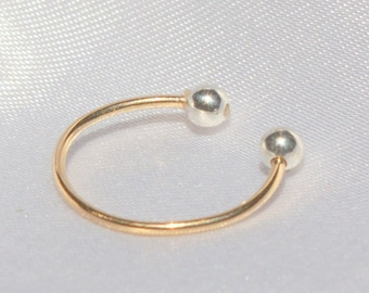 Skinny Gold Midi Ring  - Thin Gold Ring - Adjustable Gold and silver Above Knuckle Ring. Knuckle Ring. Open Knuckle Ring.