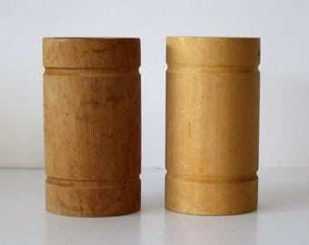 Two Large Wooden Spools