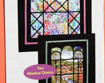 Through My Window too easy stained glass quilt pattern from Patchworks Studio Uncut
