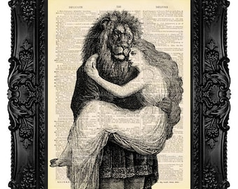 Beauty And The BEAST, Beauty Beast Decor, Art Print Beast, Prince Princess The Beast Wedding Love Art Print Anniversary Gift Unique Gift 503