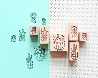 Plant stamps, cactus stamps, cacti stamps, plant stamp, succulent stamps, bullet journal, bujo stamps, cactus stamp, stamp set
