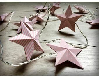 Light Garland star paper