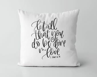 Pillow Cover - Anniversary Gift - Decorative Pillows - Throw Pillow - Farmhouse Pillows