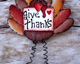 Give Thanks Turkey Pin