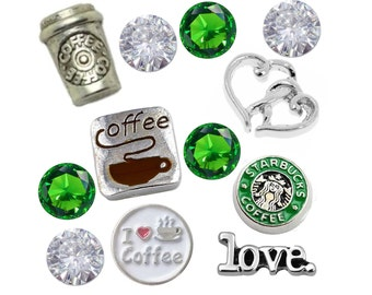 Coffee Floating Charms Set