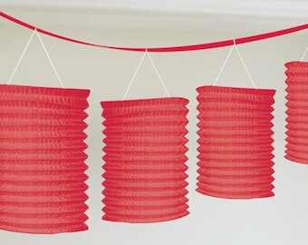 Party Decorations ,Red Paper Lantern Garlands 3.65m