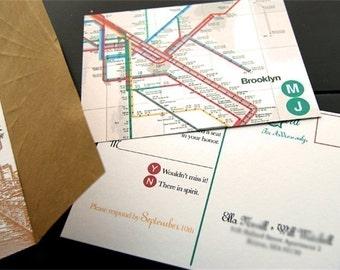 Brooklyn Bridge Wedding Invitation Set