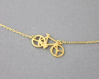 Bicycle Charm Necklace  Dainty and Delicate Necklace  Birthday Gift