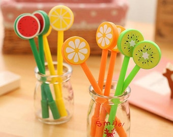 Novelty Fruit Gel Pen