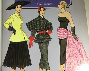 Vintage Paper Doll Book 1995 Christian Dior Fashion Review Paper Dolls by Tom Tierney