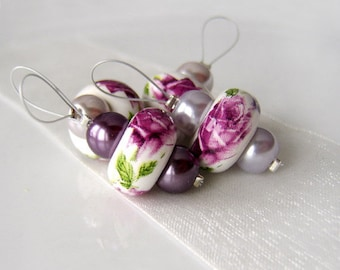 Posy and Pearls - Four Snag Free Stitch Markers - Fits Up To 6.5 mm (10.5 US) - Limited Edition