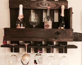 Pallet Wine Rack, Compact