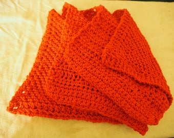 Knitted and Crocheted Dish Cloth Set