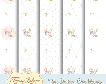 Tiny Shabby chic Flowers Digital pattern, Shabby Chic Digital Papers, Flowers Pattern, Vintage Pattern, Flowers Illustratrion