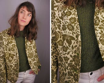Handmade Sixties Dahlia Green Blazer