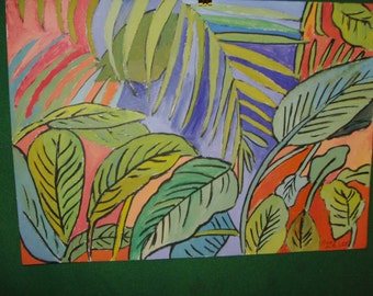 Large Leaves ( Conservatory Painting)