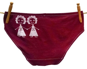 Gemini Zodiac Women's Underwear - Recycled Cotton - Made to Order