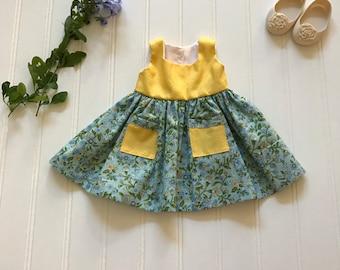 Yellow summer doll dress