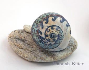 Pysanky-style Moon Snail