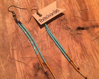 Pocahontas - Long Seed Bead Earrings