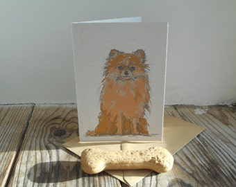 Dog Note Cards: 10 Pack; Pomeranian
