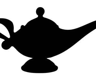 Genie Lamp .SVG file for vinyl cutting