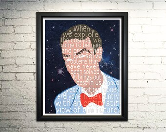 Bill Nye word art print - 8x10""