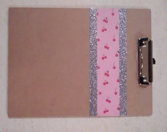 Cherry Glitter Clipboard-Personalized with Any Letter