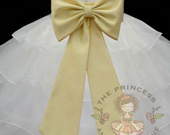 Canary yellow child sash, yellow flower girl sash
