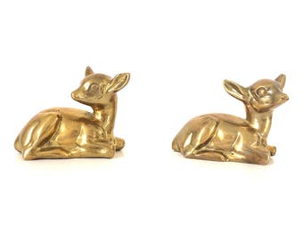 Pair brass Bambi / vintage / 70s