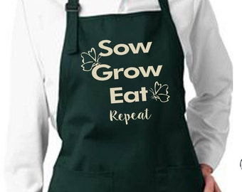 Gardening Apron, Gifts for Her, Garden Apron, Personalized Apron, Gifts for Him, Valentine Gift, Gardening Gifts