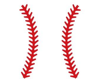 Baseball Lines Minimalist Embroidery Design