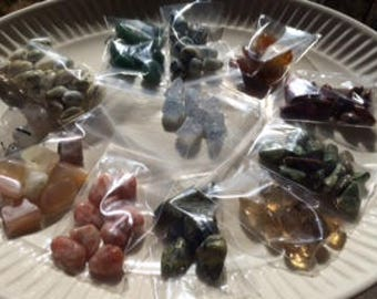 Crystals for making grids ~ small sized stones for making your grids ~ Mojo bags ~ Several types to choose from