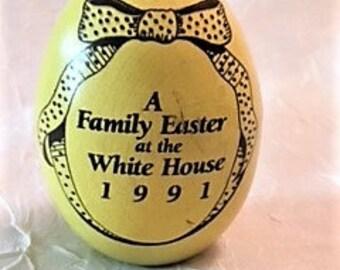 Presidential Memorabilia- 1991 Bush White House Easter Egg