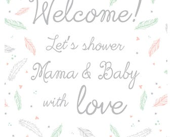 Baby Shower Welcome - Feather & Arrow Collection