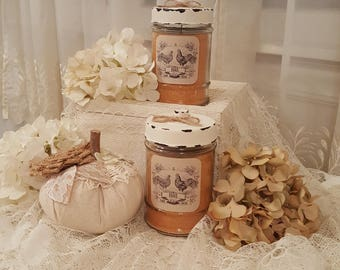 Farmhouse Caramel Creme Brulee Jar Candle