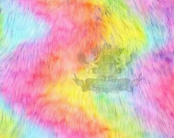 Rainbow furry legwarmers
