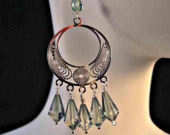 Amethyst Chandelier earrings,birthstone earrings,amethyst earrings,gemstone earrings,silver earrings,drop earrings,dangle earrings,February