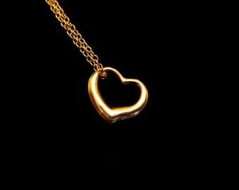 Teensy Tiny Floating Heart Necklace