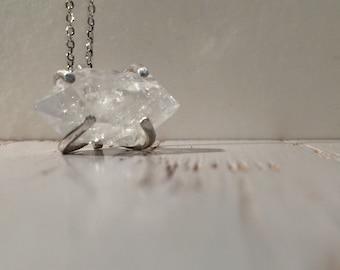 Herkimer Diamond Pendant. Sterling Silver