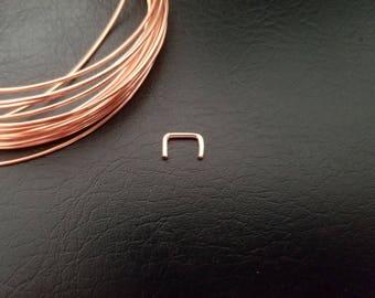 20g 18g 16g 14k Rose Gold filled Septum Retainer Hide Your Piercing Septum Hider Septum Retainer Conceal