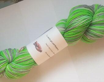 Lazycatfibers luxury sock Rave - 450 yards superwash merino, nylon, and alpaca