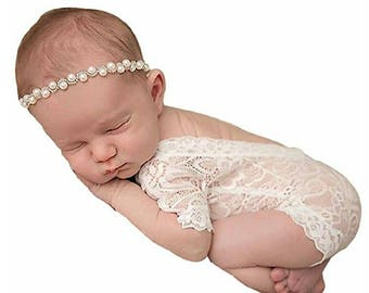 Baby girl  photography lace short sleeve romper jumpsuit