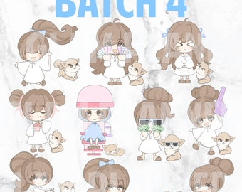 Batch 4 - Bippity and Boo 01 (Kawaii Planner Stickers)