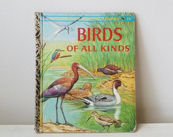 "Vintage Birds Book ""Birds Of All Kinds"" 1959 ""A"" First Edition by Walter Ferguson, A Little Golden Book, Children's Illustrated"