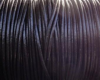 10 Yards Black Genuine Leather 2mm Round Cord