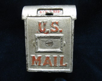 "Cast Iron Bank, ""U.S. MAIL"" ,circa 1912-1931, ( A.C.Williams, I Think ) in Original Condition"
