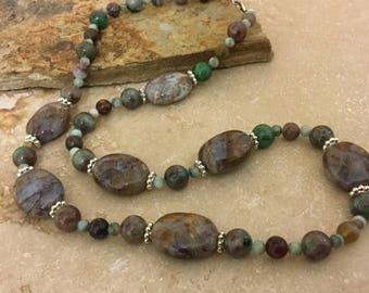 Genuine Turquoise Necklace - Real Turquoise Necklace - Boho Jewelry - Boho Necklace - Southwestern Jewelry - Southwest Necklace