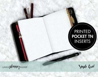 Basic Line/Grid Planner Insert | No2/Pocket Size TN Inserts