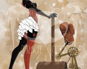 Steampunk Harley Quinn 11x17 Art Print